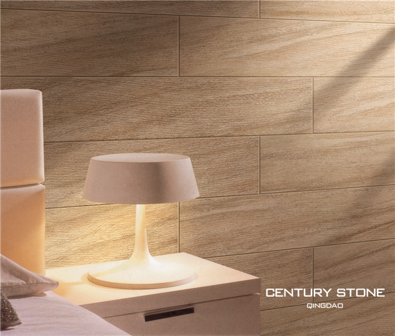 New Arrival Imported Designer Wall Tile 300x600mm: New Arrival 6x24 Inch 3D Ceramic Strip Wood Plank Tiles