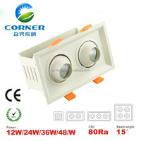 24W cob led spotlight 12w*2 2160lm high power CHINA factory price