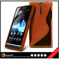 Keno Hot Selling Soft Silicone TPU Back Cover Case for Sony Xperia S lt26i with S Line Design