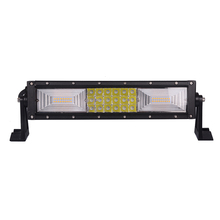 14 inch side bracket straight LED light bar with screw, three row