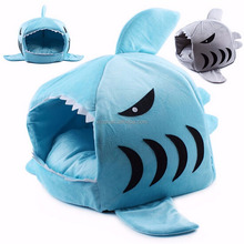 Comfortable Shark Mouth Design Pet Dog Cat Bed House Kennel