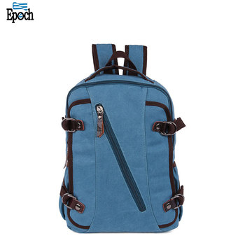2018 New Leather Canvas Backpack Men Travel Laptop Backpack Women Bagpack Vintage School Backpack For High School Bag