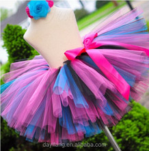 Rainbow mini skirt children' girls costumes girls dance short skirt