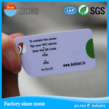 Custom shape RFID access control plastic card with barcode printing