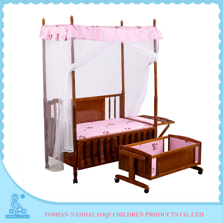 2016 Safety Custom Made Crib Type Baby Bed Cradle Swing