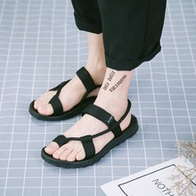 2017 latest fashion summer mens custom logo sandals