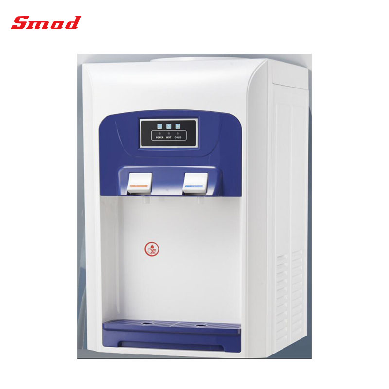 Compressor cooling counter top hot cold water dispenser