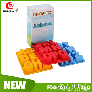 Tall Letters Silicone Alphabet Letter Shape Ice Cube Trays Mold