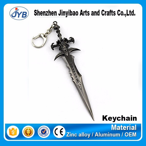 hot product in 2015 metal sword game theme keyring