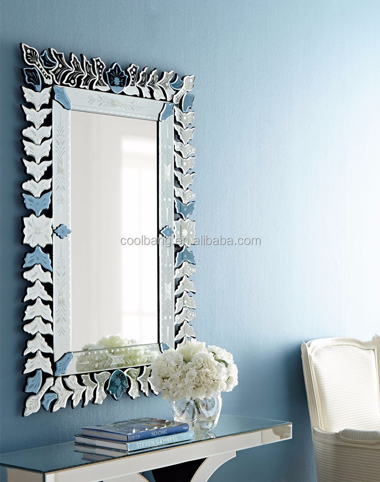 Coolbang cbm174 livia rectangular venetian style wall for Silver framed mirrors on sale
