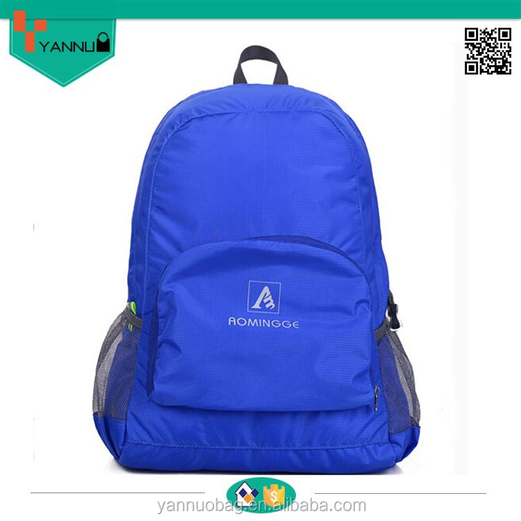 new arrival most hightweight system contracted stylish ventilate folding travel backpack nylon bag portable style for teenagers