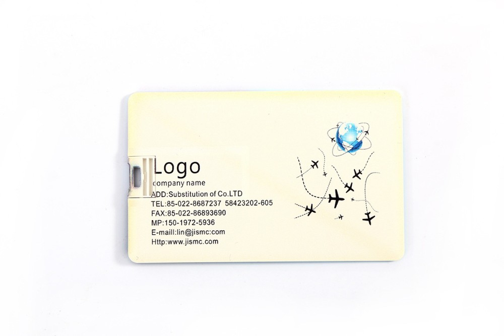 Custom credit card shap usb flash drives with customized logo
