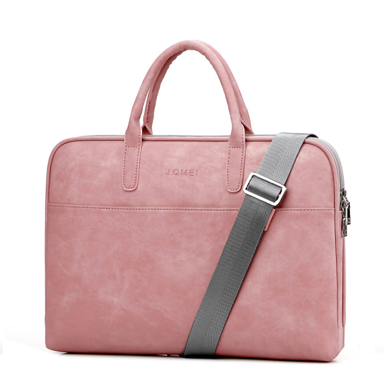 "Fashion High Quality Waterproof 13"" 14"" 15"" Two Tone PU Leather Laptop Bag for Women"