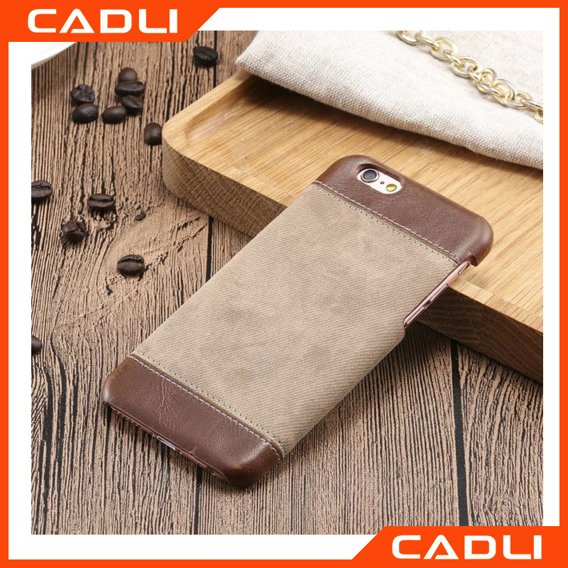 For iPhone 5 5s 5se Jeans Leather Case Hard PC Back Protect Cover Skin Brown Black
