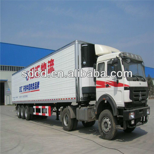2016 China 30-50tons freezer truck trailer refrigerated trailer freezer van trailer for sale
