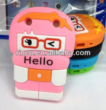 3D Cute Soft Silicone Back Phone Case Cover Skin for Blackberry Curve 9220 9320