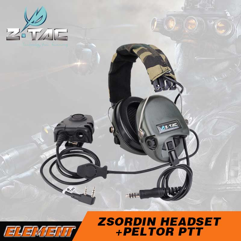Zsordin Headset ear protection for shooting noise cancelling ear muffs with ptt Z111-Z112