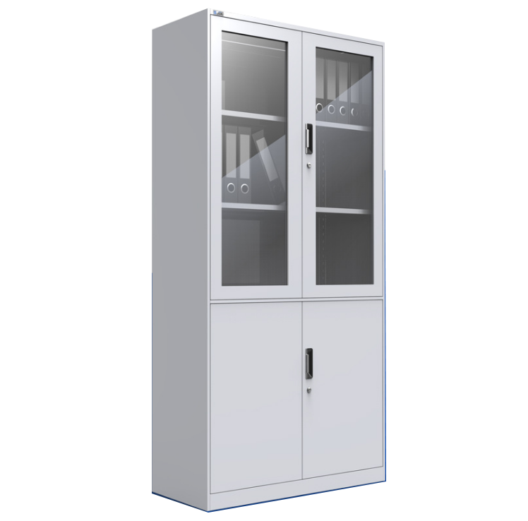 OEM customized best selling single color Glass Door File cabinet
