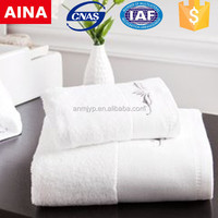 China Top 10 Towels' supplier high quality Dobby Plain weave stain white hot towel