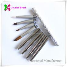 Switched Head Changeable Nail Art Brush Kolinsky Hair Multi-foundation Nail Brush Set