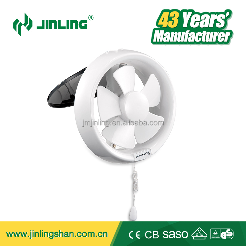 6 inch round full plastic glass window mount ventilating exhaust fan