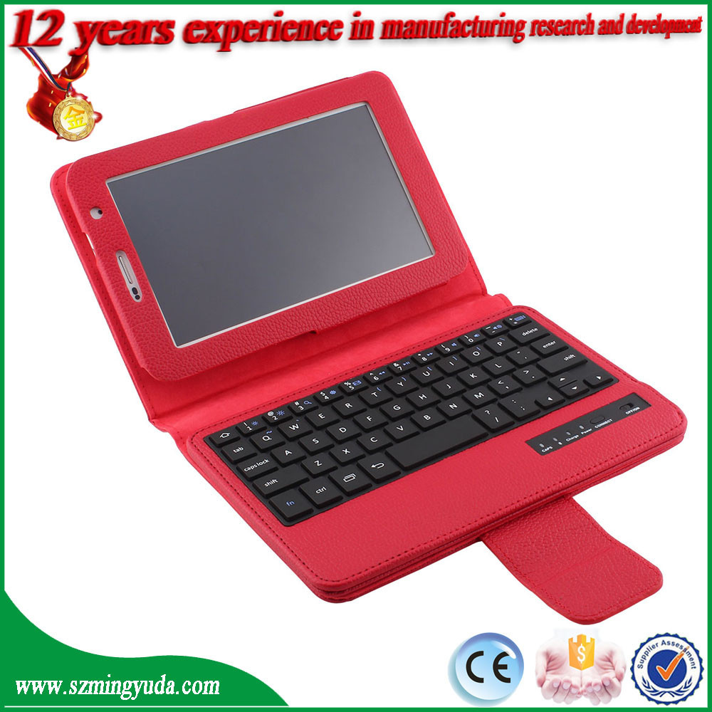 Wireless Bluetooth Keyboard + PU Leather Case For Samsung Galaxy Tab 2 7.0 P3100 P3110
