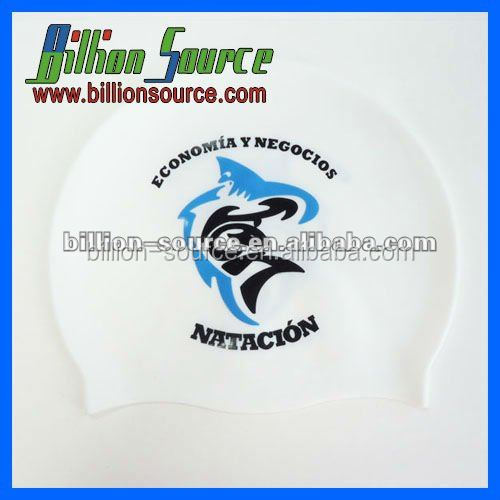 2016 custom pattern silicone swim caps no minimum