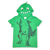 China Clothing Factory Wholesale Green Dinosaur 100% Cotton Pullover Hoodie T-Shirt For Boy