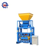 Light weight block machine manual QT40-1concrete block making machine design pdf