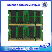 Low density pc2-6400 ram memory notebook ddr2 2g 800