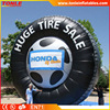 high quality inflatable tire billboard, cheap inflatable billboard