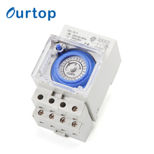 OURTOP 220V Every15 Minutes Programmable Industry Mechanical Time Delay Timer Switch