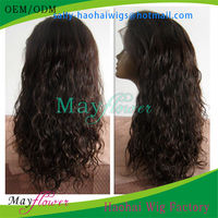 2014 good quality wave curl human brazilian hair lace front wig for african american bleached kmots