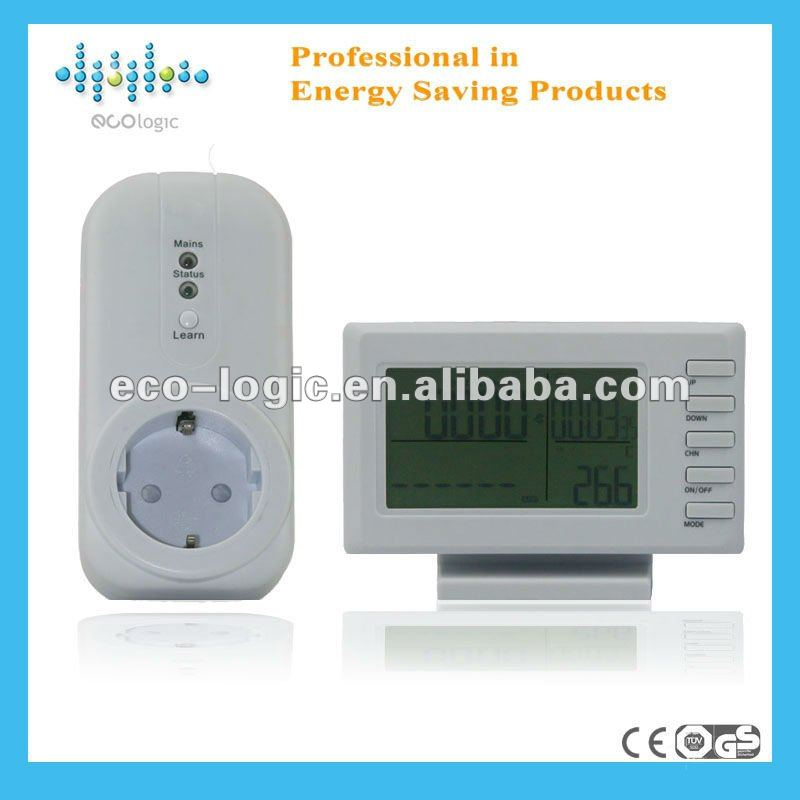 Household power monitor single phase for saving energy consumption