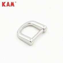 Customed small zinc alloy nickle free metal D ring buckles for shoe belt garment clothing coat jean bag