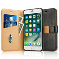 Leather Flip Stand Protective Cover with Card Slots/Cash Compartment Magnetic Closure for iPhone 7