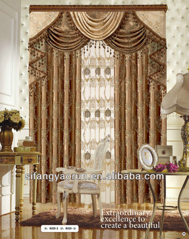 luxury living room window curtain design for living room