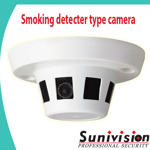 High resolution CMOS 700TVL Smoking detecter type cheap video hidden camera with IR CUT