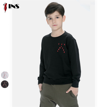 Children sweater custom made spring printed long-sleeved cotton sweater for children