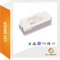 XZ-POWER new development external flicker free constant current 15w 100-350mA LED driver with TUV SAA CE RCM CB ROHS