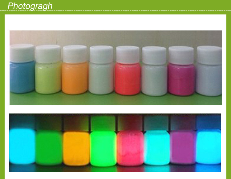 luminous paint/glow in the dark in2017/ glow pigment