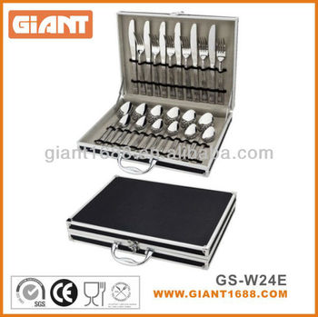 24pcs stainless steel cutlery set for Spain market