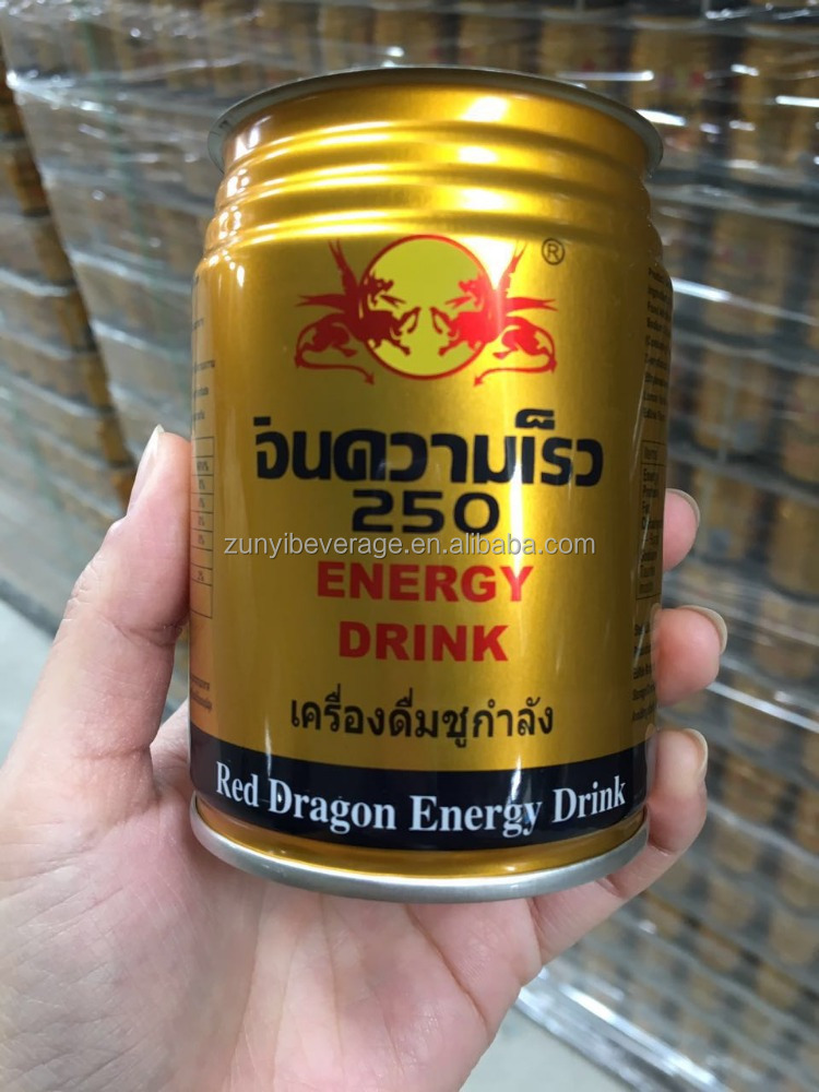 Powerful tinplate can Thailand printing Red Dragon energy drink