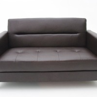 ZOY Morden Leather Gel Stationary Loveseat