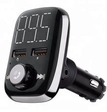 Onever BT74 Car Kit FM Transmitter MP3 Player With Large LED display Dual USB 4.1A Quick Charger Micro SD TF Music Playing