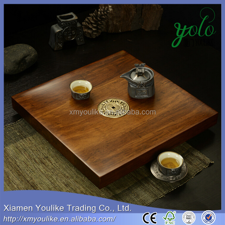 monoblock bamboo tea tray recombination solid bamboo tea tray