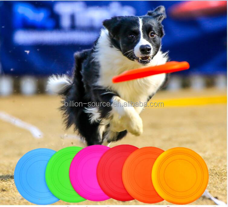 Silicone Flying Discs Frisbee Outdoor Training dog fetch Toy