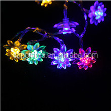 christmas holiday party wedding outdoor decoration indoor bettery solar lotus plastic flower fairy string led light