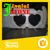 Fine Price Double Heart Shaped Headstone Granite Tombstone