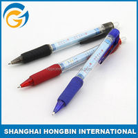 Plastic Promotional Retractable Banner Pens with Rubber Barrel